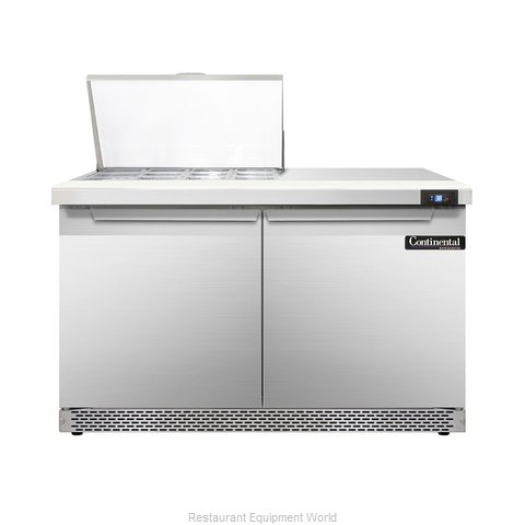 Continental Refrigerator DL48-12M-FB Refrigerated Counter, Mega Top Sandwich / S