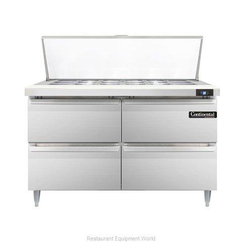 Continental Refrigerator DL48-18M-D Refrigerated Counter, Mega Top Sandwich / Sa