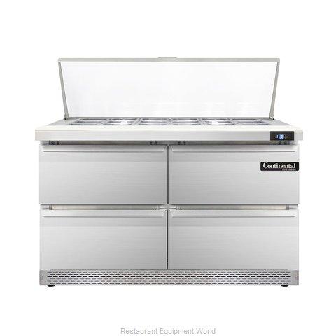 Continental Refrigerator DL48-18M-FB-D Refrigerated Counter, Mega Top Sandwich /