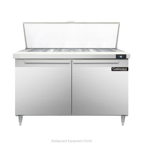 Continental Refrigerator DL48-18M Refrigerated Counter, Mega Top Sandwich / Sala
