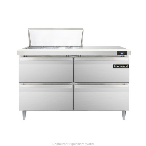 Continental Refrigerator DL48-8-D Refrigerated Counter, Sandwich / Salad Top
