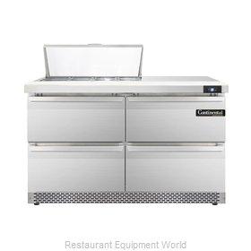Continental Refrigerator DL48-8-FB-D Refrigerated Counter, Sandwich / Salad Top