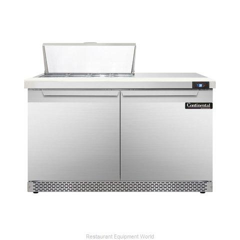 Continental Refrigerator DL48-8-FB Refrigerated Counter, Sandwich / Salad Top