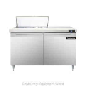 Continental Refrigerator DL48-8 Refrigerated Counter, Sandwich / Salad Top