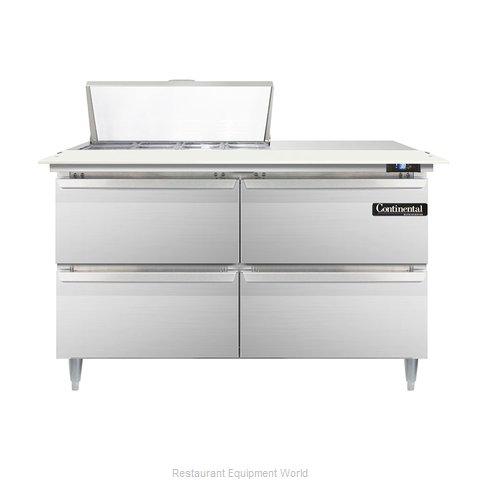 Continental Refrigerator DL48-8C-D Refrigerated Counter, Sandwich / Salad Top