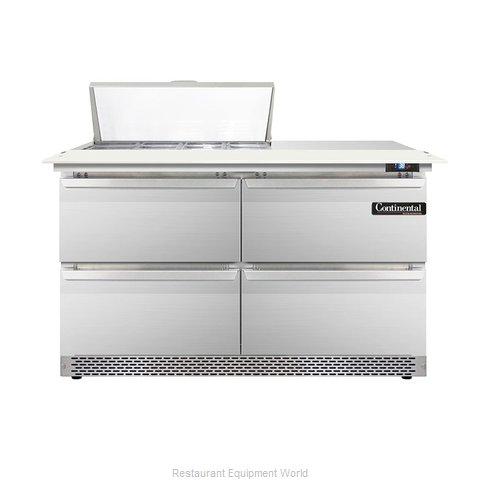 Continental Refrigerator DL48-8C-FB-D Refrigerated Counter, Sandwich / Salad Top