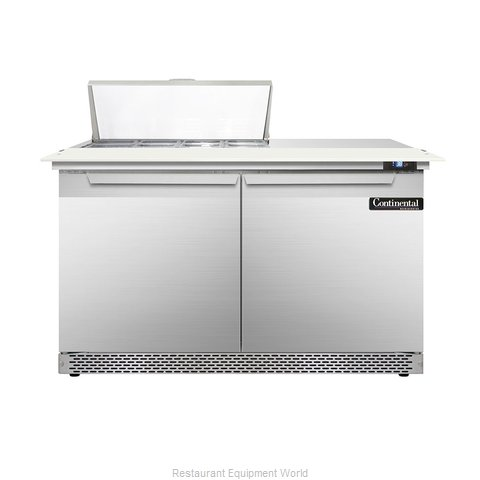 Continental Refrigerator DL48-8C-FB Refrigerated Counter, Sandwich / Salad Top