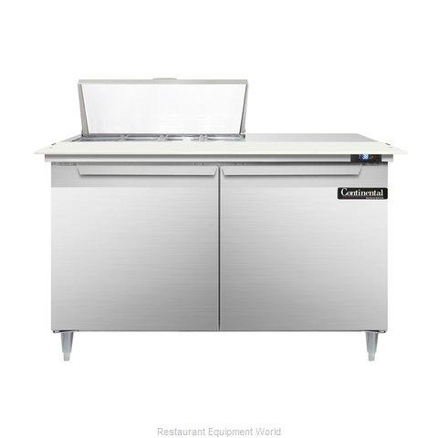 Continental Refrigerator DL48-8C Refrigerated Counter, Sandwich / Salad Top