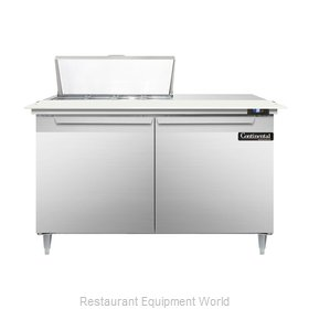 Continental Refrigerator DL48-8C Refrigerated Counter, Sandwich / Salad Top