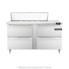 Continental Refrigerator DL60-12-D Refrigerated Counter, Sandwich / Salad Top