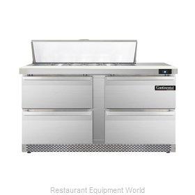 Continental Refrigerator DL60-12-FB-D Refrigerated Counter, Sandwich / Salad Top
