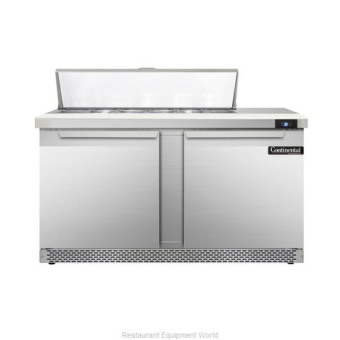 Continental Refrigerator DL60-12-FB Refrigerated Counter, Sandwich / Salad Top