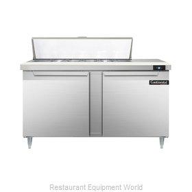 Continental Refrigerator DL60-12 Refrigerated Counter, Sandwich / Salad Top