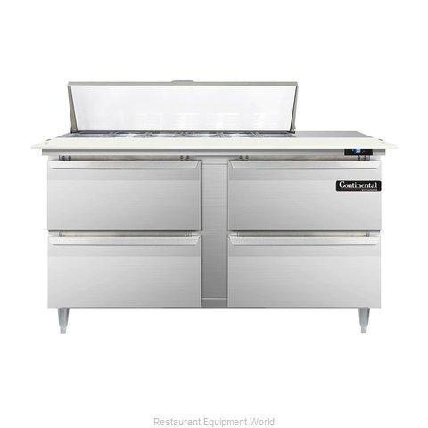 Continental Refrigerator DL60-12C-D Refrigerated Counter, Sandwich / Salad Top