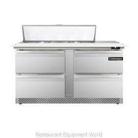 Continental Refrigerator DL60-12C-FB-D Refrigerated Counter, Sandwich / Salad To