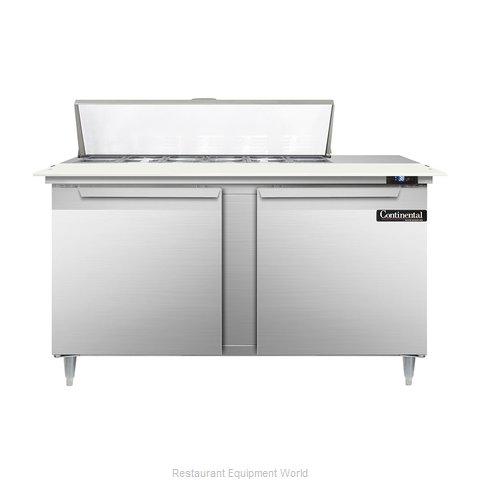 Continental Refrigerator DL60-12C Refrigerated Counter, Sandwich / Salad Top
