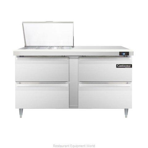 Continental Refrigerator DL60-12M-D Refrigerated Counter, Mega Top Sandwich / Sa