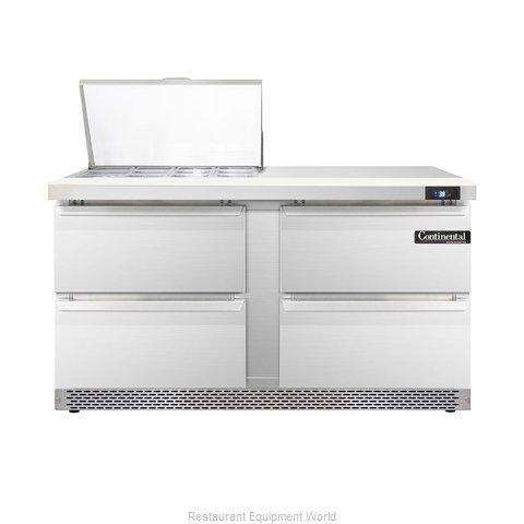 Continental Refrigerator DL60-12M-FB-D Refrigerated Counter, Mega Top Sandwich /