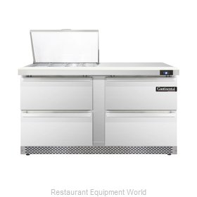 Continental Refrigerator DL60-12M-FB-D Refrigerated Counter, Mega Top Sandwich /
