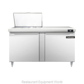 Continental Refrigerator DL60-12M Refrigerated Counter, Mega Top Sandwich / Sala