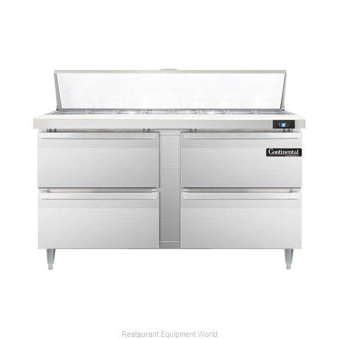 Continental Refrigerator DL60-16-D Refrigerated Counter, Sandwich / Salad Top