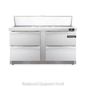 Continental Refrigerator DL60-16-FB-D Refrigerated Counter, Sandwich / Salad Top