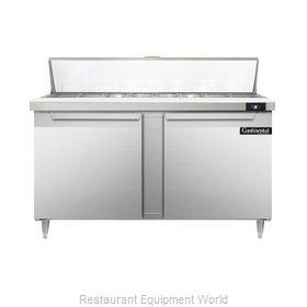 Continental Refrigerator DL60-16 Refrigerated Counter, Sandwich / Salad Top