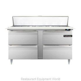 Continental Refrigerator DL60-16C-D Refrigerated Counter, Sandwich / Salad Top