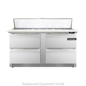 Continental Refrigerator DL60-16C-FB-D Refrigerated Counter, Sandwich / Salad To