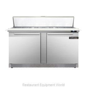Continental Refrigerator DL60-16C-FB Refrigerated Counter, Sandwich / Salad Top