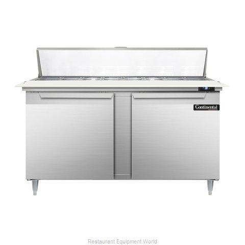 Continental Refrigerator DL60-16C Refrigerated Counter, Sandwich / Salad Top
