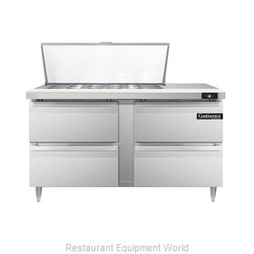 Continental Refrigerator DL60-18M-D Refrigerated Counter, Mega Top Sandwich / Sa