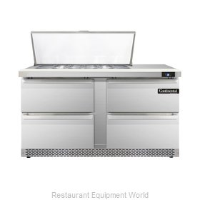Continental Refrigerator DL60-18M-FB-D Refrigerated Counter, Mega Top Sandwich /