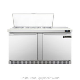 Continental Refrigerator DL60-18M-FB Refrigerated Counter, Mega Top Sandwich / S