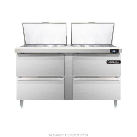 Continental Refrigerator DL60-24M-D Refrigerated Counter, Mega Top Sandwich / Sa