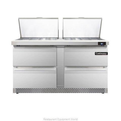Continental Refrigerator DL60-24M-FB-D Refrigerated Counter, Mega Top Sandwich /