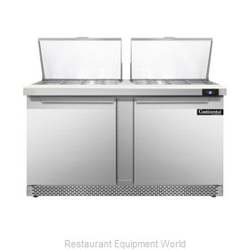 Continental Refrigerator DL60-24M-FB Refrigerated Counter, Mega Top Sandwich / S
