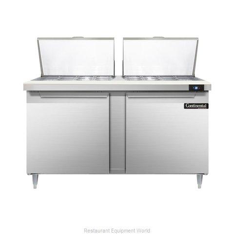 Continental Refrigerator DL60-24M Refrigerated Counter, Mega Top Sandwich / Sala