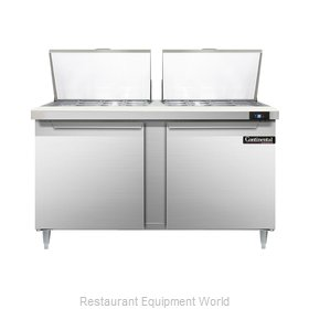 Continental Refrigerator DL60-24M Refrigerated Counter, Mega Top Sandwich / Sala