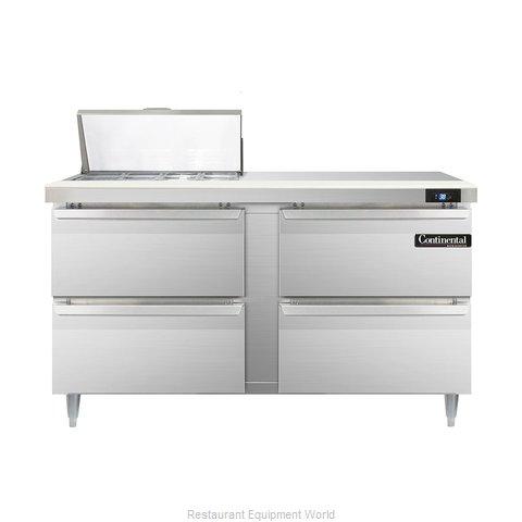Continental Refrigerator DL60-8-D Refrigerated Counter, Sandwich / Salad Top