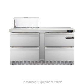 Continental Refrigerator DL60-8-FB-D Refrigerated Counter, Sandwich / Salad Top