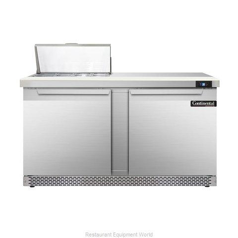 Continental Refrigerator DL60-8-FB Refrigerated Counter, Sandwich / Salad Top