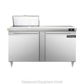 Continental Refrigerator DL60-8 Refrigerated Counter, Sandwich / Salad Top