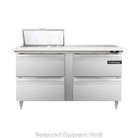 Continental Refrigerator DL60-8C-D Refrigerated Counter, Sandwich / Salad Top