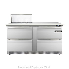 Continental Refrigerator DL60-8C-FB-D Refrigerated Counter, Sandwich / Salad Top