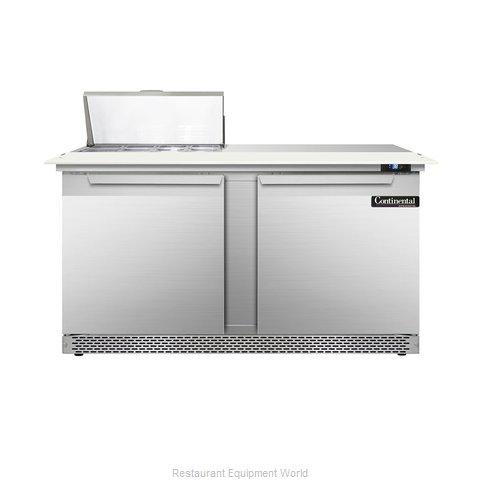 Continental Refrigerator DL60-8C-FB Refrigerated Counter, Sandwich / Salad Top