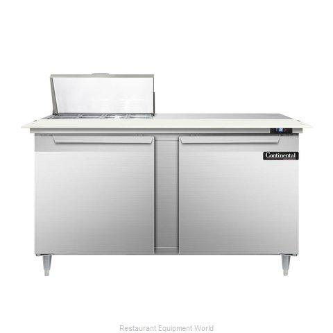 Continental Refrigerator DL60-8C Refrigerated Counter, Sandwich / Salad Top