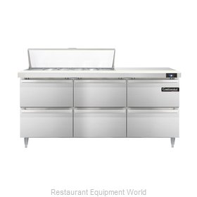 Continental Refrigerator DL72-12-D Refrigerated Counter, Sandwich / Salad Top