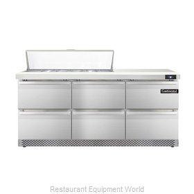 Continental Refrigerator DL72-12-FB-D Refrigerated Counter, Sandwich / Salad Top