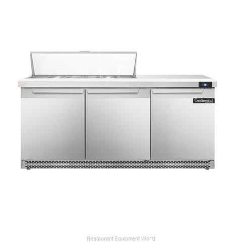 Continental Refrigerator DL72-12-FB Refrigerated Counter, Sandwich / Salad Top